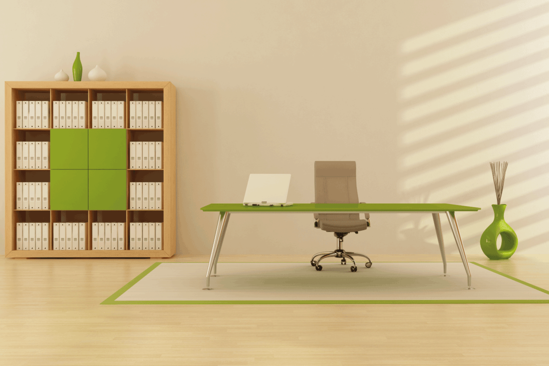 calming color for an office, green office concept