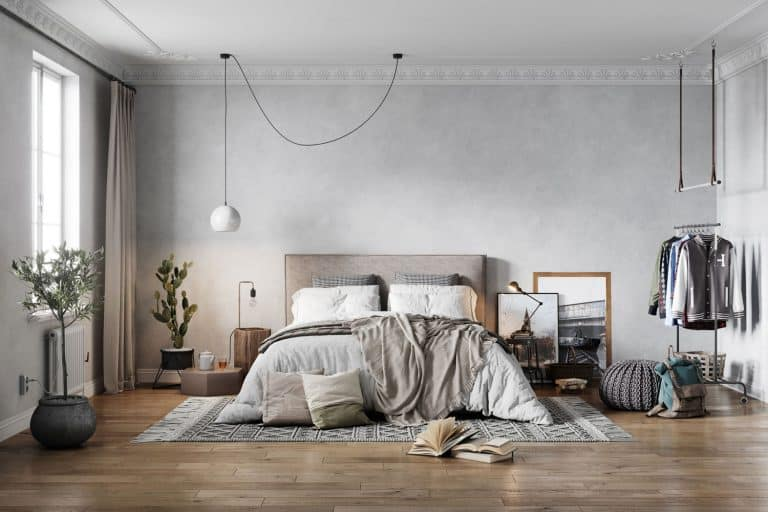 image of a luxurious and elegant bedroom interiors from an old turn of the century apartment, Carpet Vs Hardwood In Bedroom - What You Need To Know