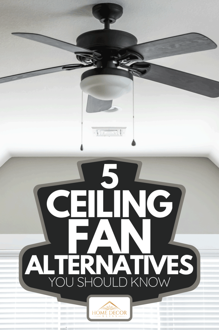 New construction house with a dark wood ceiling fan, 5 Ceiling Fan Alternatives You Should Know