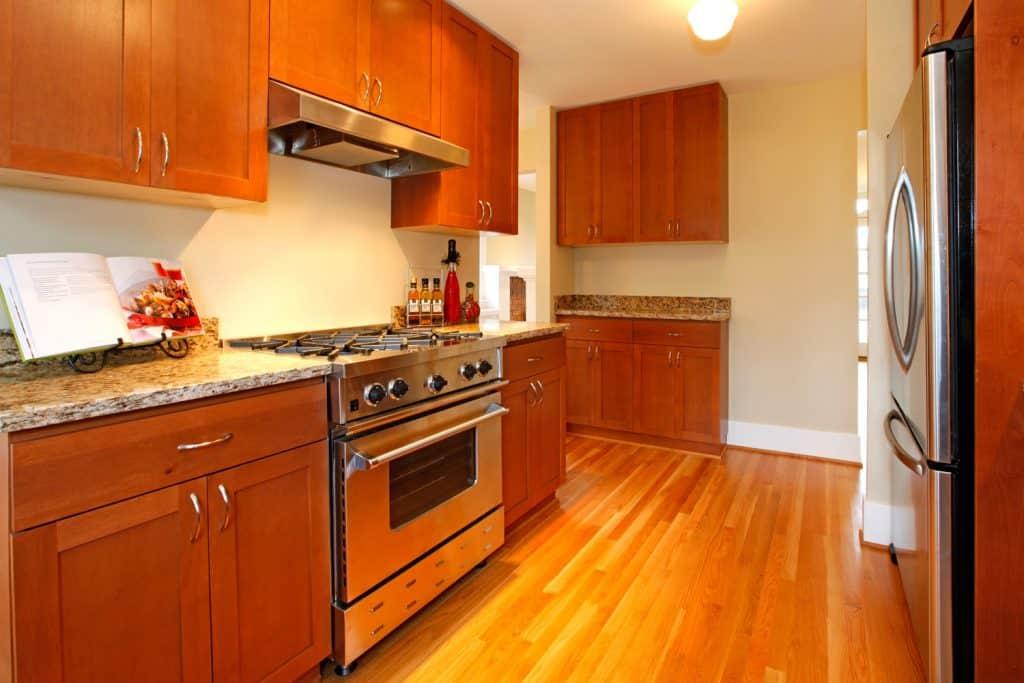 Beautiful new cherry kitchen with hardwood
