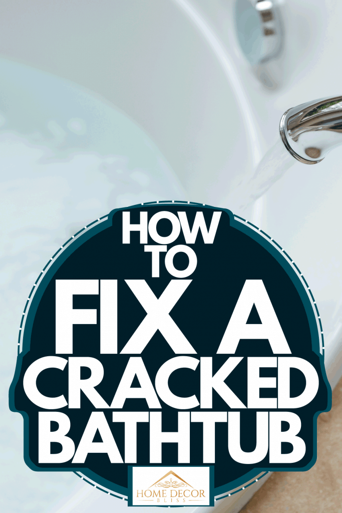 A faucet turned on inside the bathroom, How To Fix A Cracked Bathtub