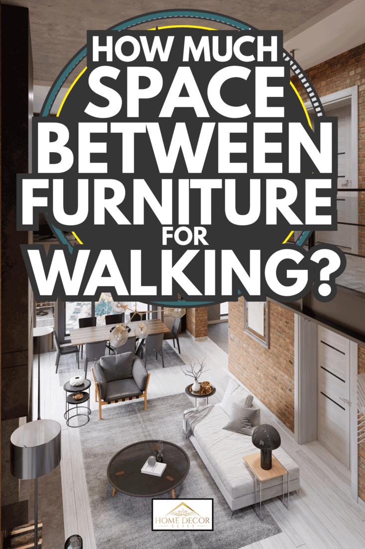 Loft modern interior designed as a open plan modern apartment. How Much SPace