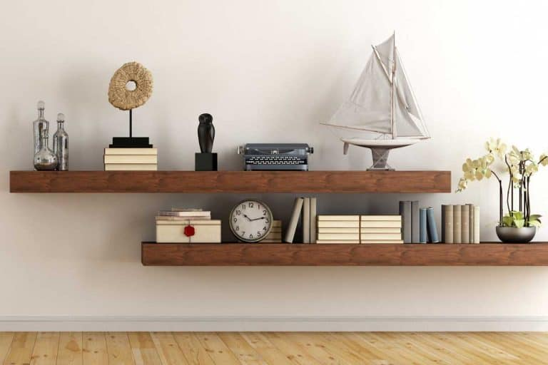 Retro vintage living room with wooden shelves, How Much Space Should Be Between Shelves?