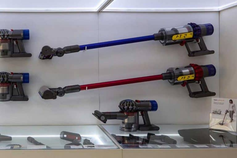 Vacuum cleaner inside Dyson shop in the department store, What Do The Lights On My Dyson Mean?