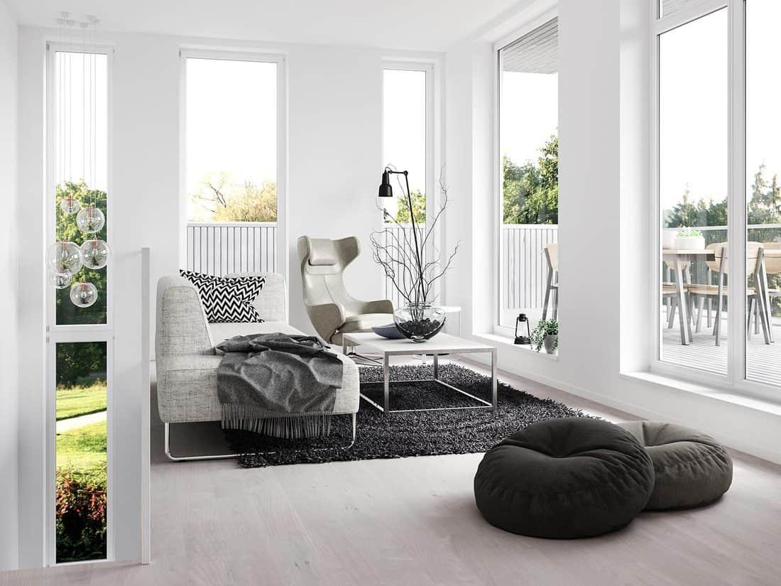 White room with white couch