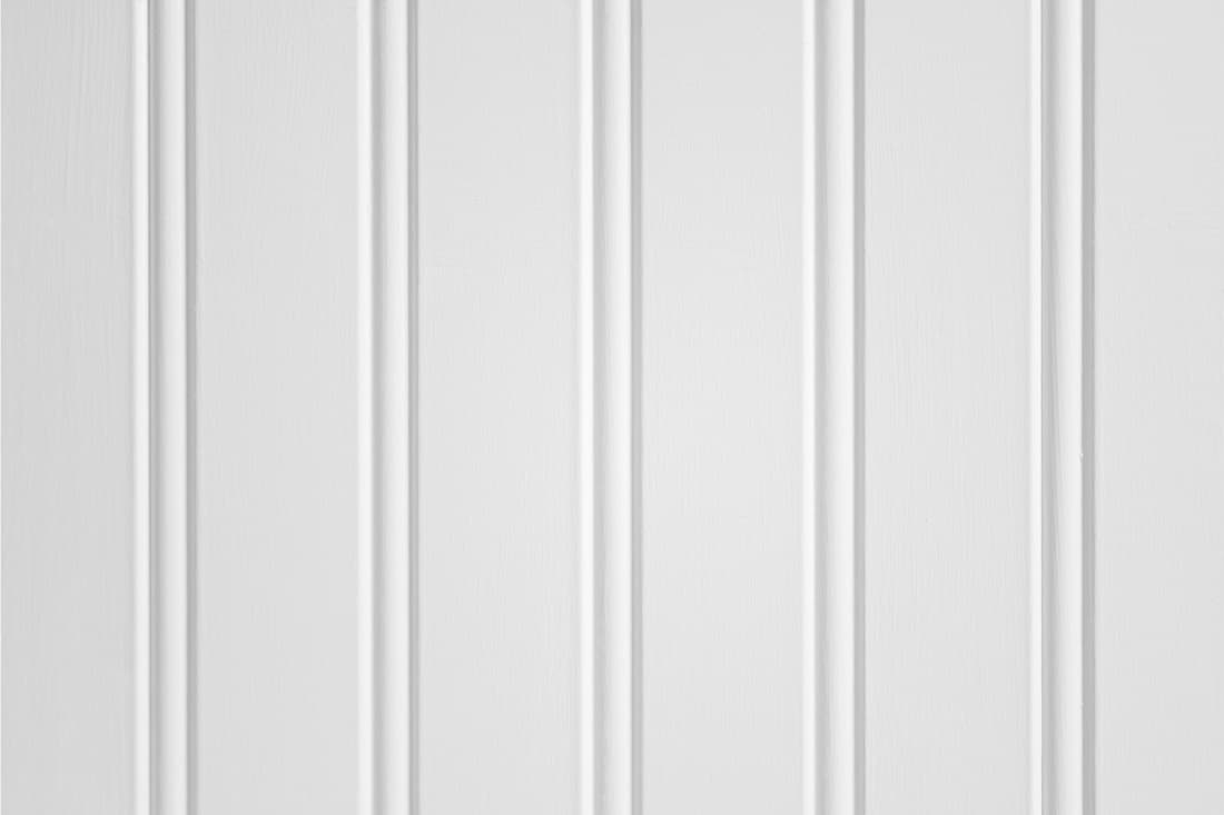 White wainscot or bead board close up photo