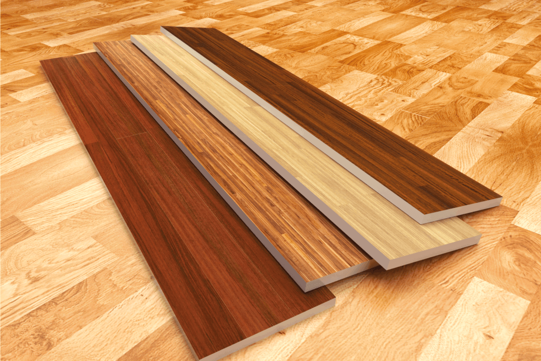 wood shims used for flooring. close-up photo. How To Fix Cracks In Vinyl Plank Flooring