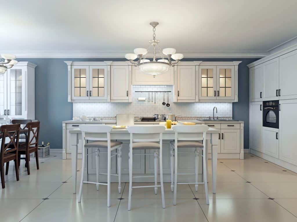 Bright art deco kitchen design