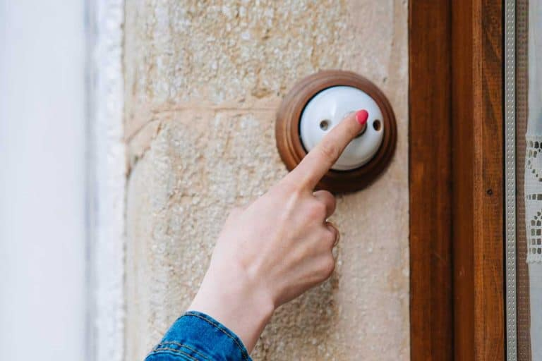 Girl rings the doorbell, Should The Doorbell Be On The Left Or Right?