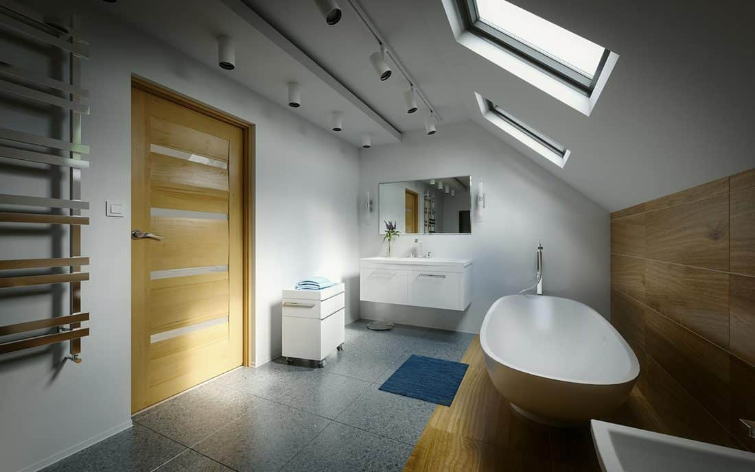 Modern domestic bathroom