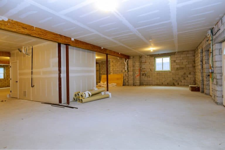 Unfinished new build interior construction basement renovation ground floor Inside, How To Paint An Unfinished Basement